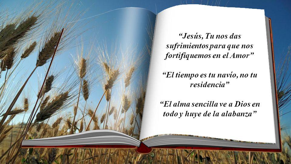 Jesús, Tu nos das sufrimientos para que nos fortifiquemos en el Amor
