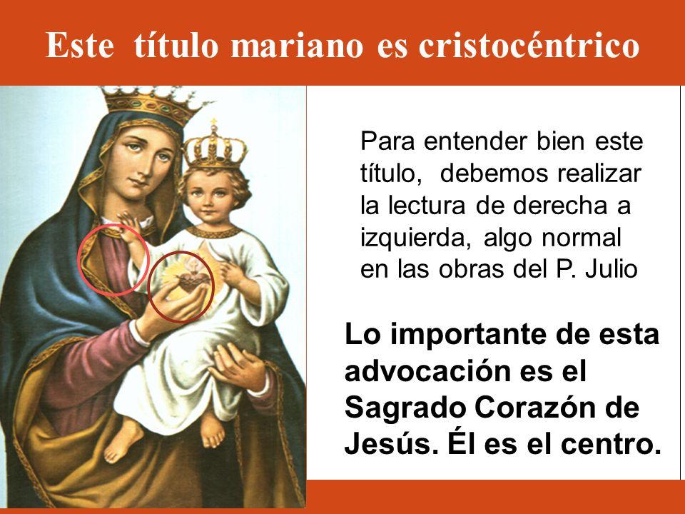 Este título mariano es cristocéntrico