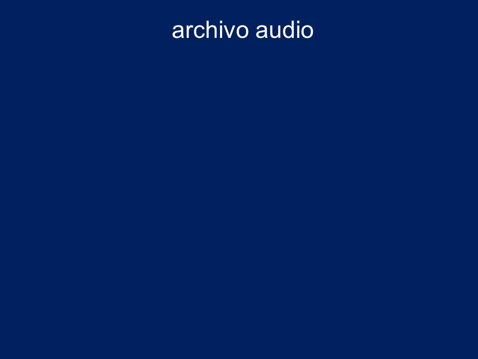 archivo audio