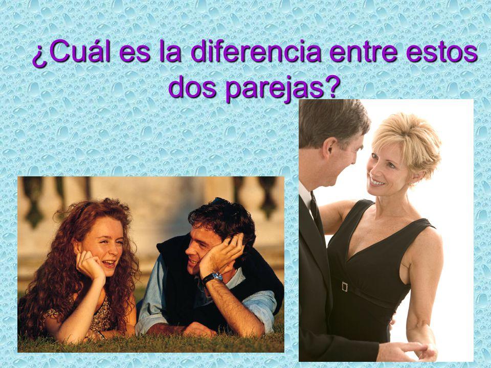 ¿Cuál es la diferencia entre estos dos parejas