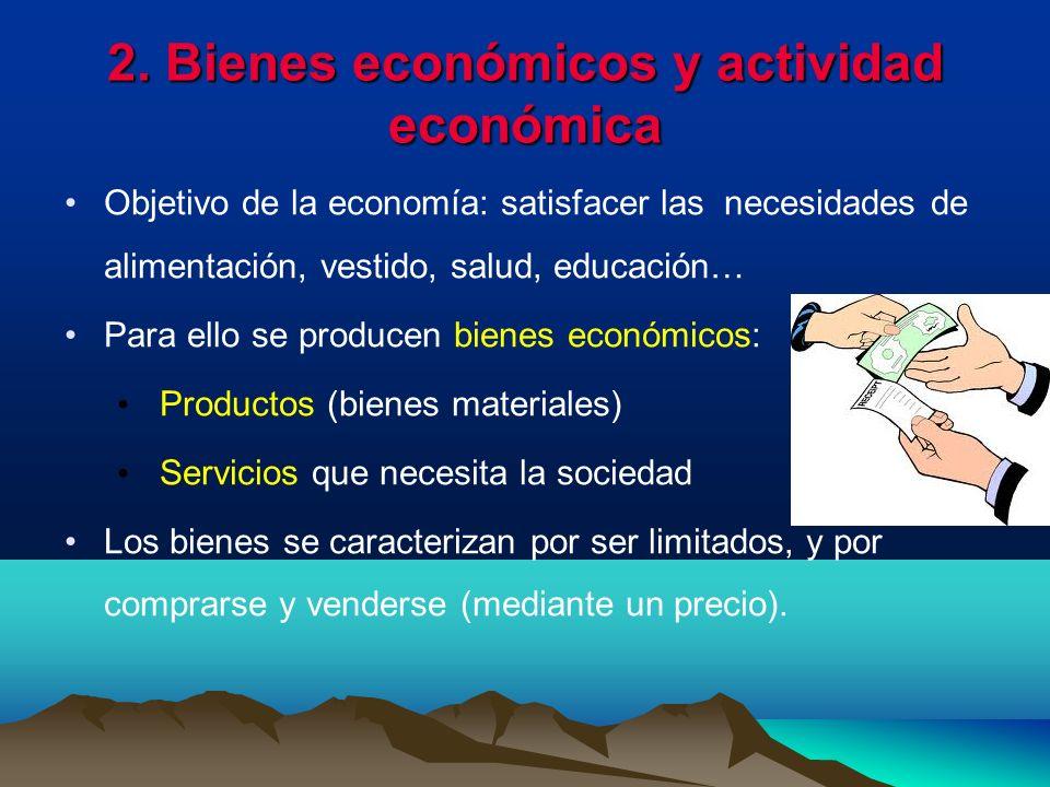 2. Bienes económicos y actividad económica