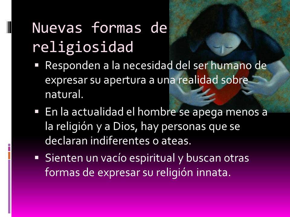 Nuevas formas de religiosidad