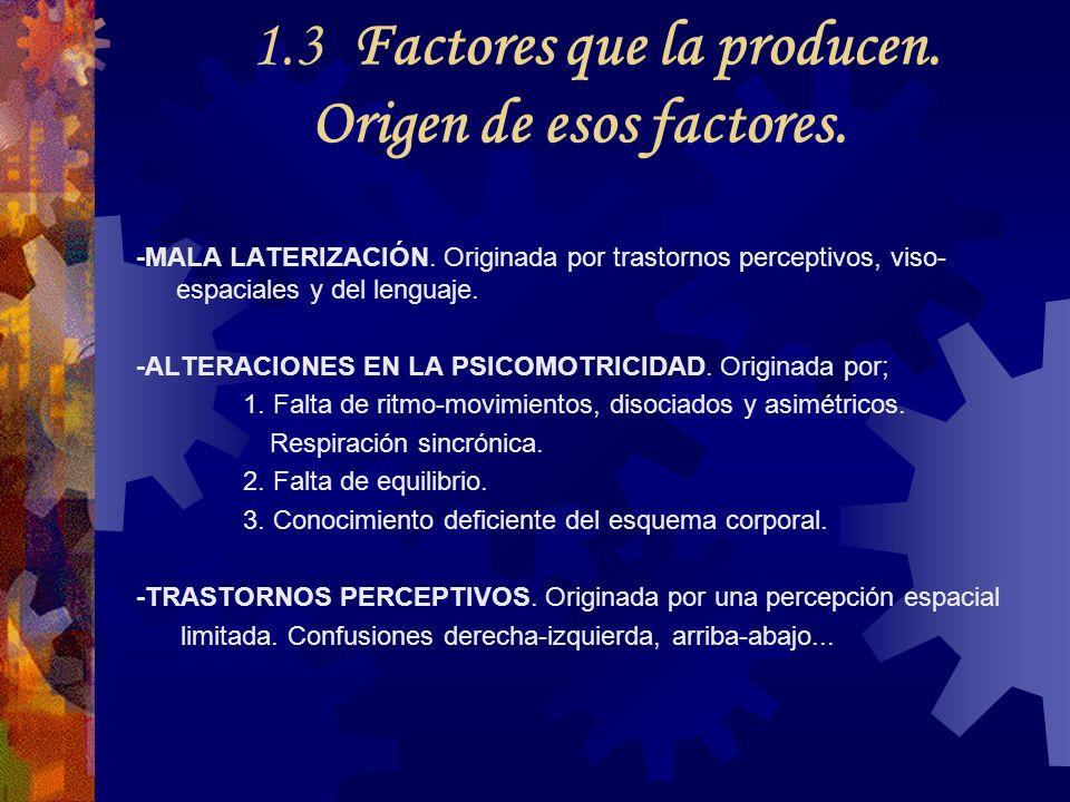 1.3 Factores que la producen. Origen de esos factores.