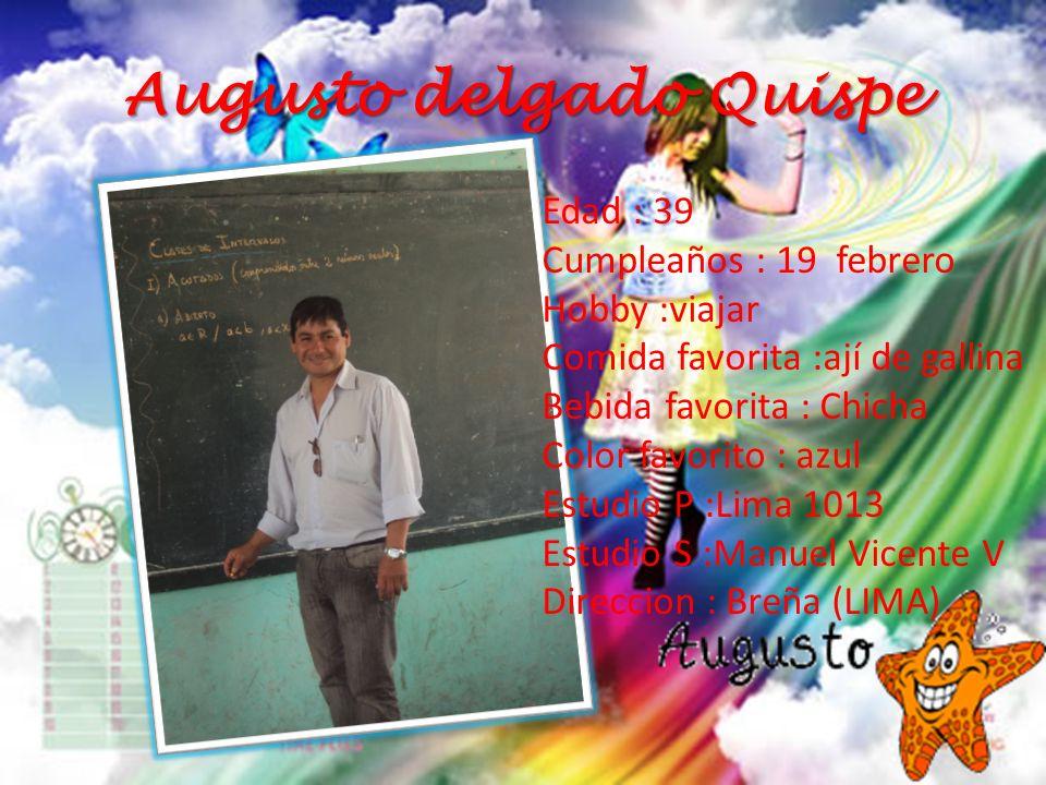 Augusto delgado Quispe