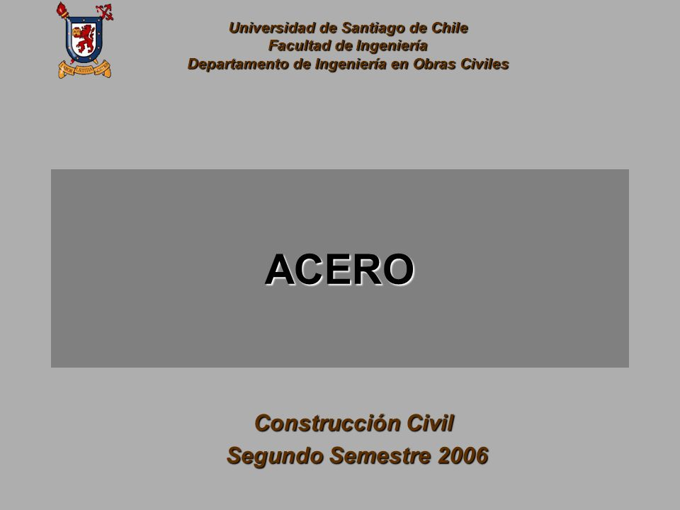 ACERO Construcción Civil Segundo Semestre 2006