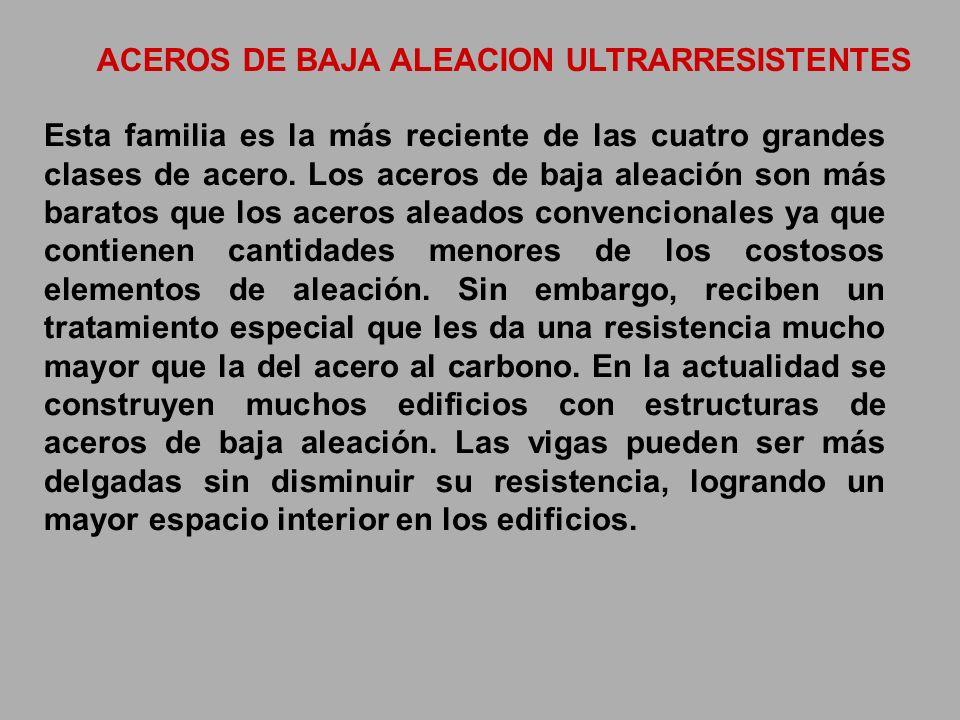 ACEROS DE BAJA ALEACION ULTRARRESISTENTES