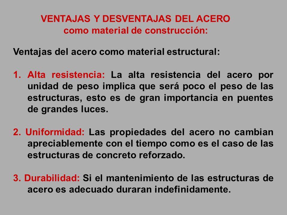 VENTAJAS Y DESVENTAJAS DEL ACERO como material de construcción: