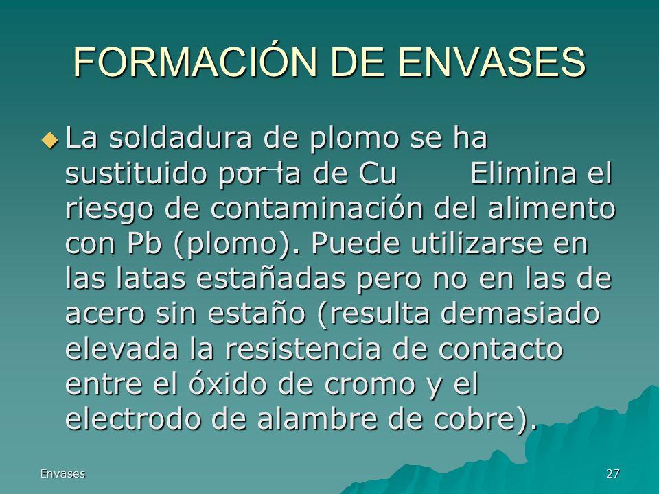 FORMACIÓN DE ENVASES