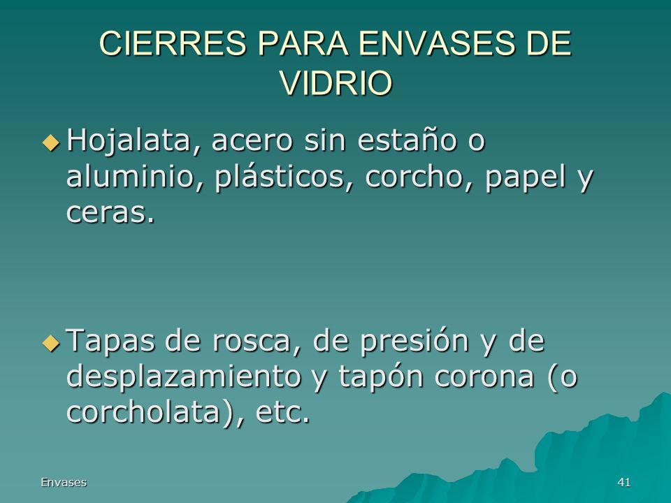 CIERRES PARA ENVASES DE VIDRIO