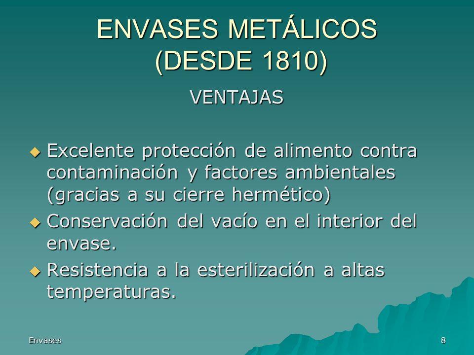ENVASES METÁLICOS (DESDE 1810)