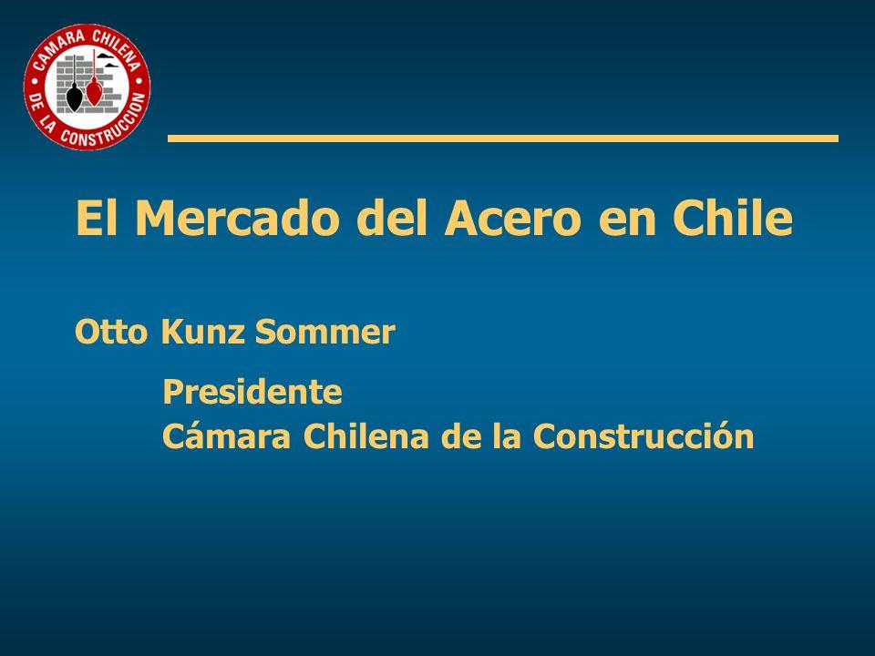 El Mercado del Acero en Chile Otto Kunz Sommer. Presidente