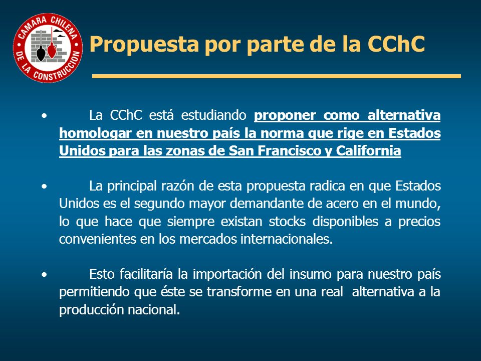 Propuesta por parte de la CChC