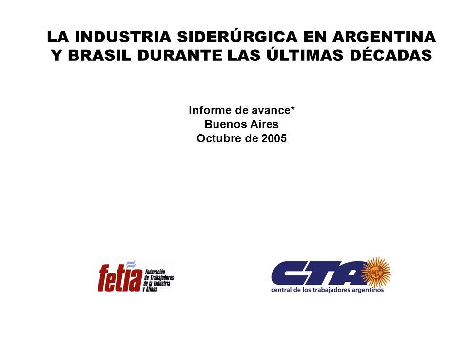 LA INDUSTRIA SIDERÚRGICA EN ARGENTINA