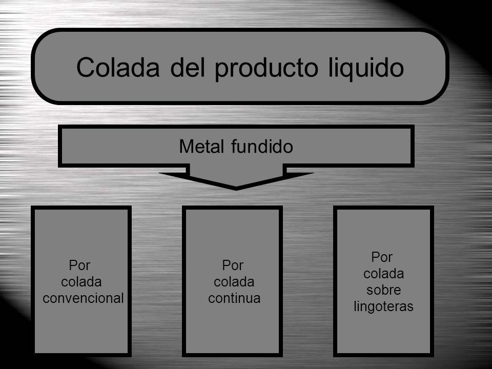 Colada del producto liquido