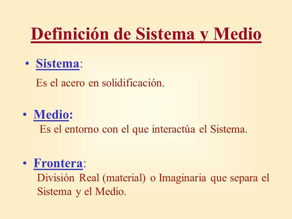 Definición de Sistema y Medio