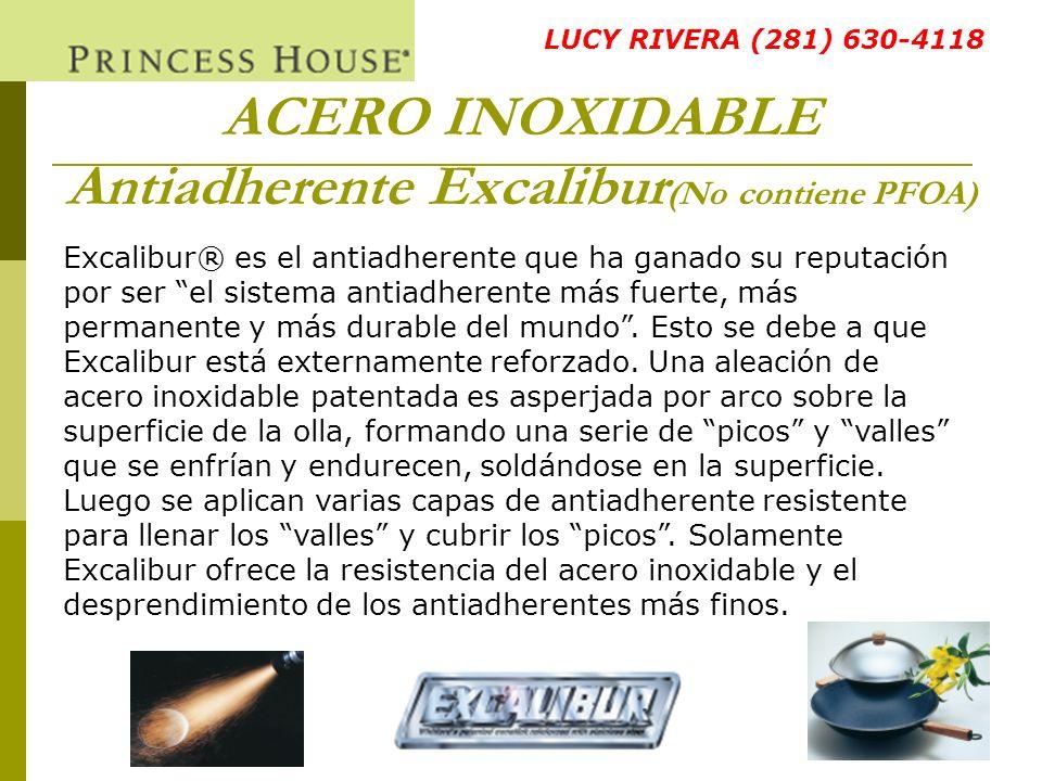 ACERO INOXIDABLE Antiadherente Excalibur(No contiene PFOA)