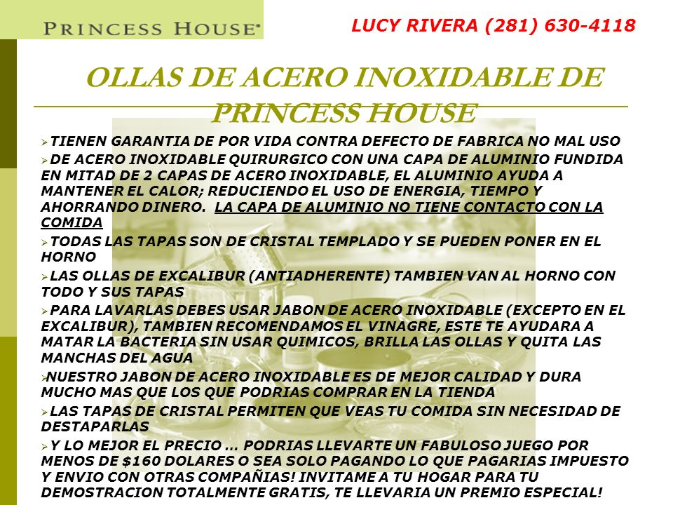 OLLAS DE ACERO INOXIDABLE DE PRINCESS HOUSE