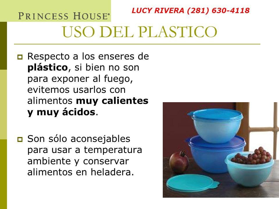 LUCY RIVERA (281) 630-4118 USO DEL PLASTICO.