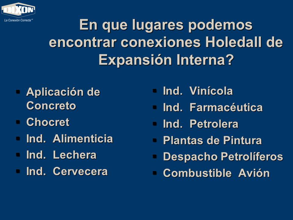 En que lugares podemos encontrar conexiones Holedall de Expansión Interna