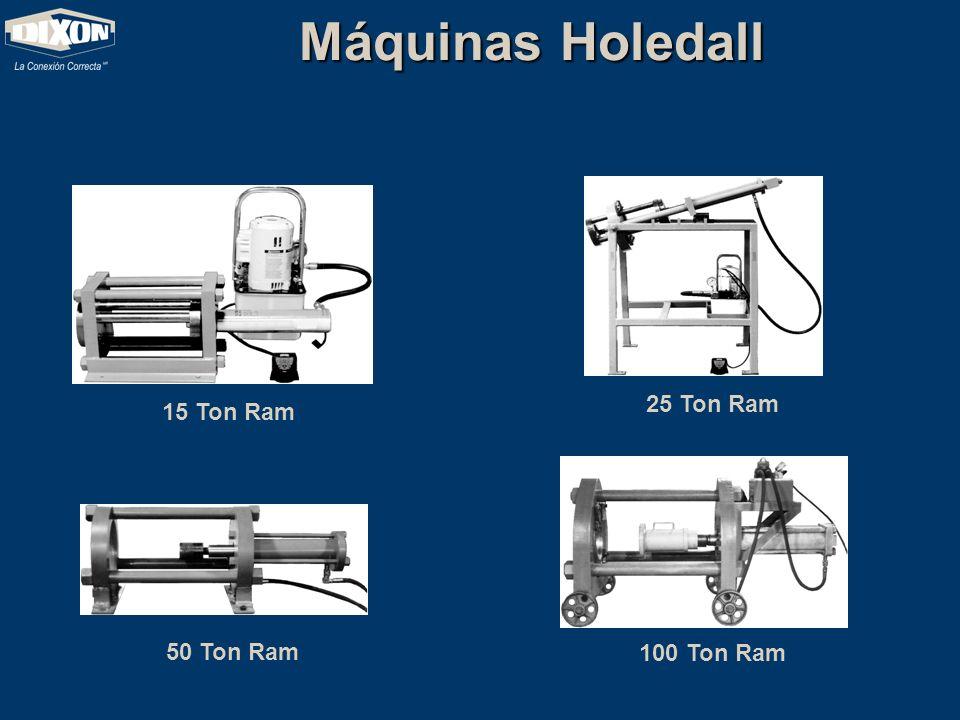 Máquinas Holedall 25 Ton Ram 15 Ton Ram 50 Ton Ram 100 Ton Ram