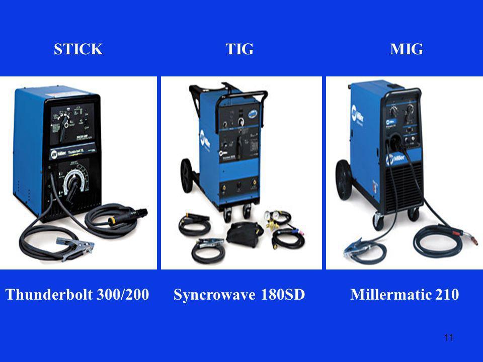 STICK TIG MIG Thunderbolt 300/200 Syncrowave 180SD Millermatic 210