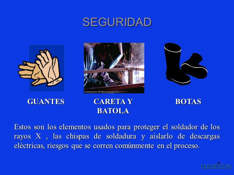 SEGURIDAD GUANTES CARETA Y BATOLA BOTAS