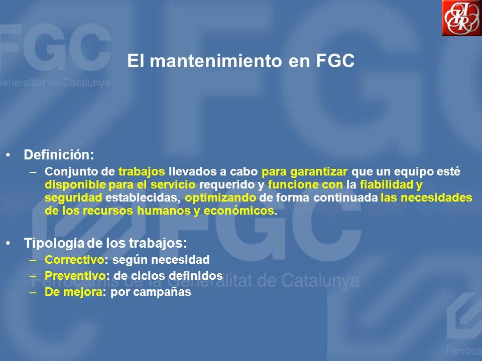 El mantenimiento en FGC
