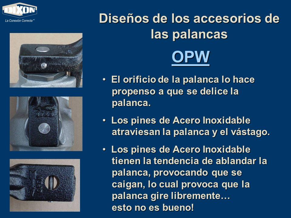 Diseños de los accesorios de las palancas