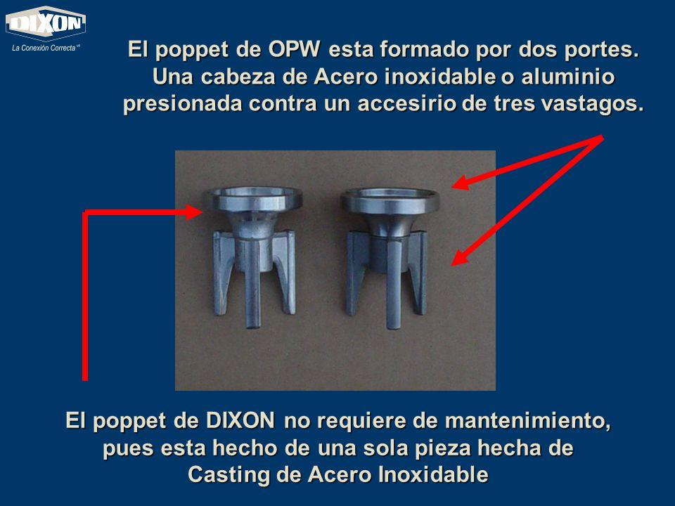 El poppet de OPW esta formado por dos portes