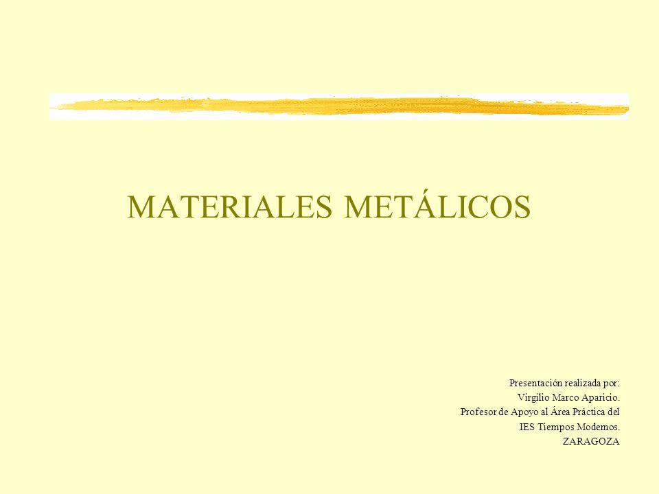 MATERIALES METÁLICOS Presentación realizada por: