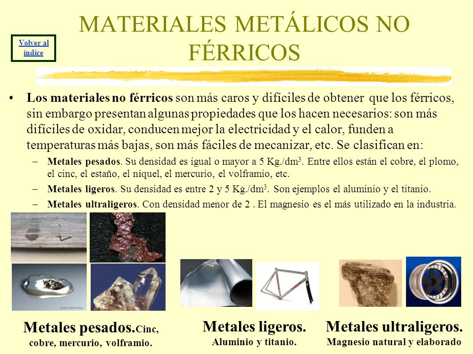 MATERIALES METÁLICOS NO FÉRRICOS