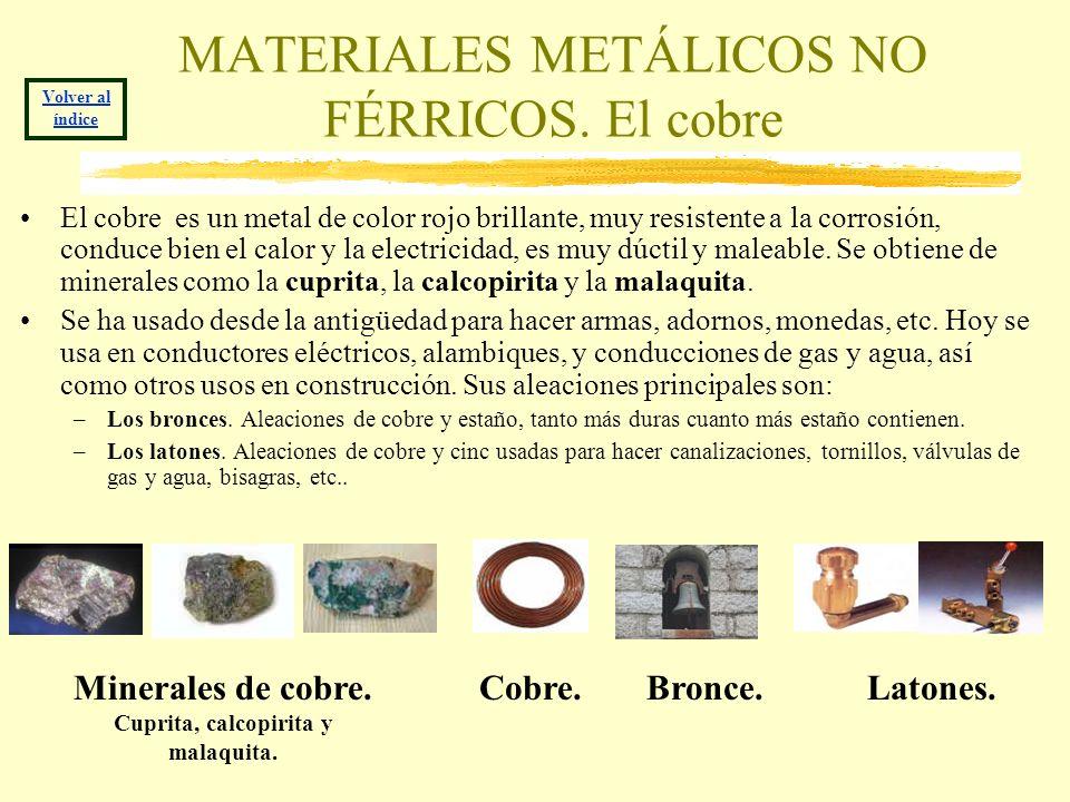 MATERIALES METÁLICOS NO FÉRRICOS. El cobre
