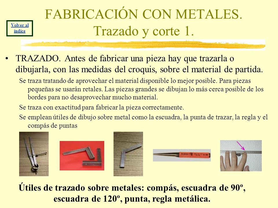 FABRICACIÓN CON METALES. Trazado y corte 1.