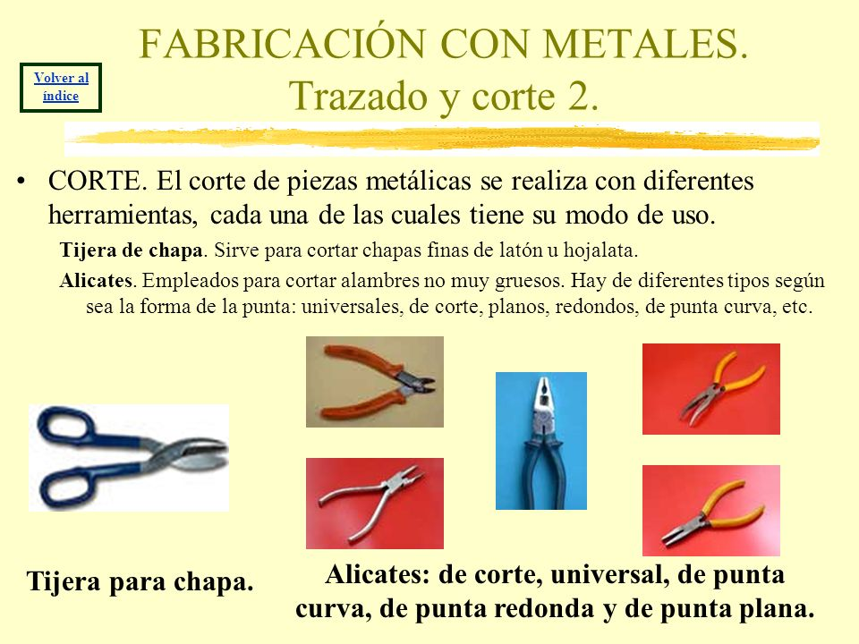 FABRICACIÓN CON METALES. Trazado y corte 2.