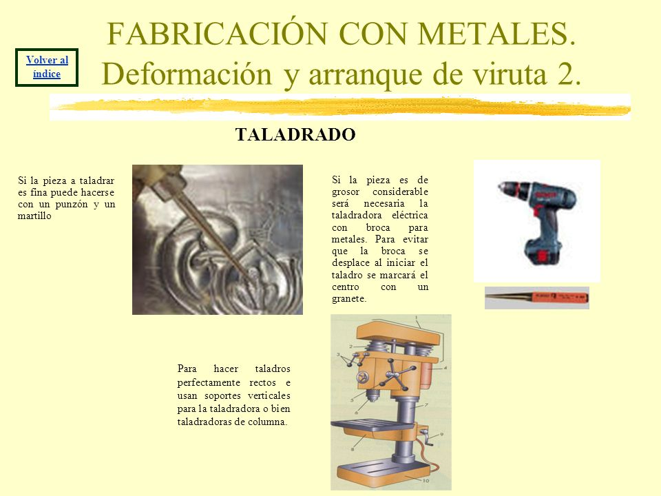 FABRICACIÓN CON METALES. Deformación y arranque de viruta 2.
