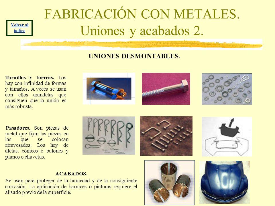 FABRICACIÓN CON METALES. Uniones y acabados 2.