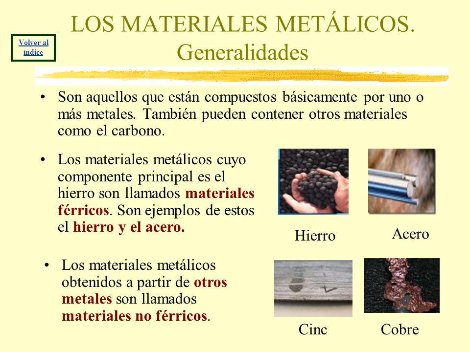 LOS MATERIALES METÁLICOS. Generalidades