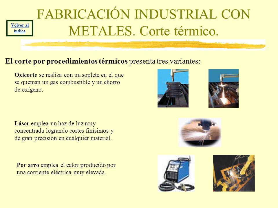 FABRICACIÓN INDUSTRIAL CON METALES. Corte térmico.
