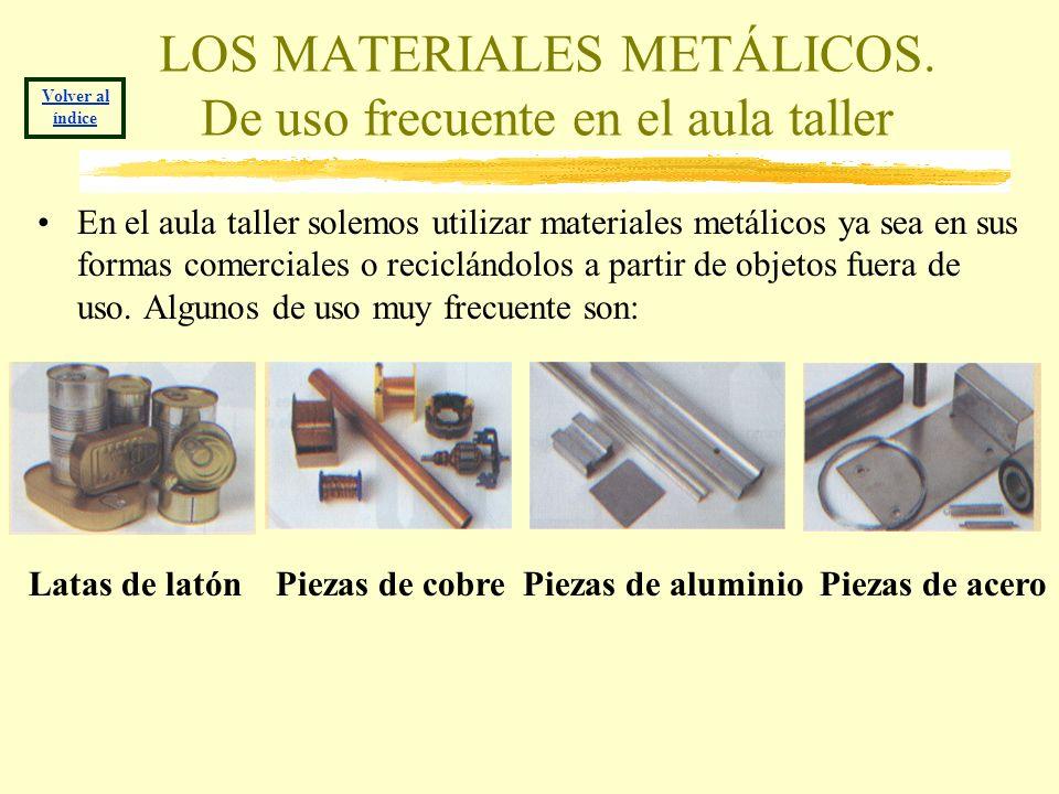 LOS MATERIALES METÁLICOS. De uso frecuente en el aula taller