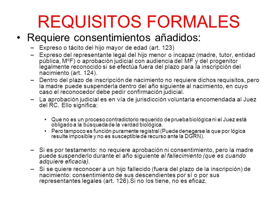 REQUISITOS FORMALES Requiere consentimientos añadidos: