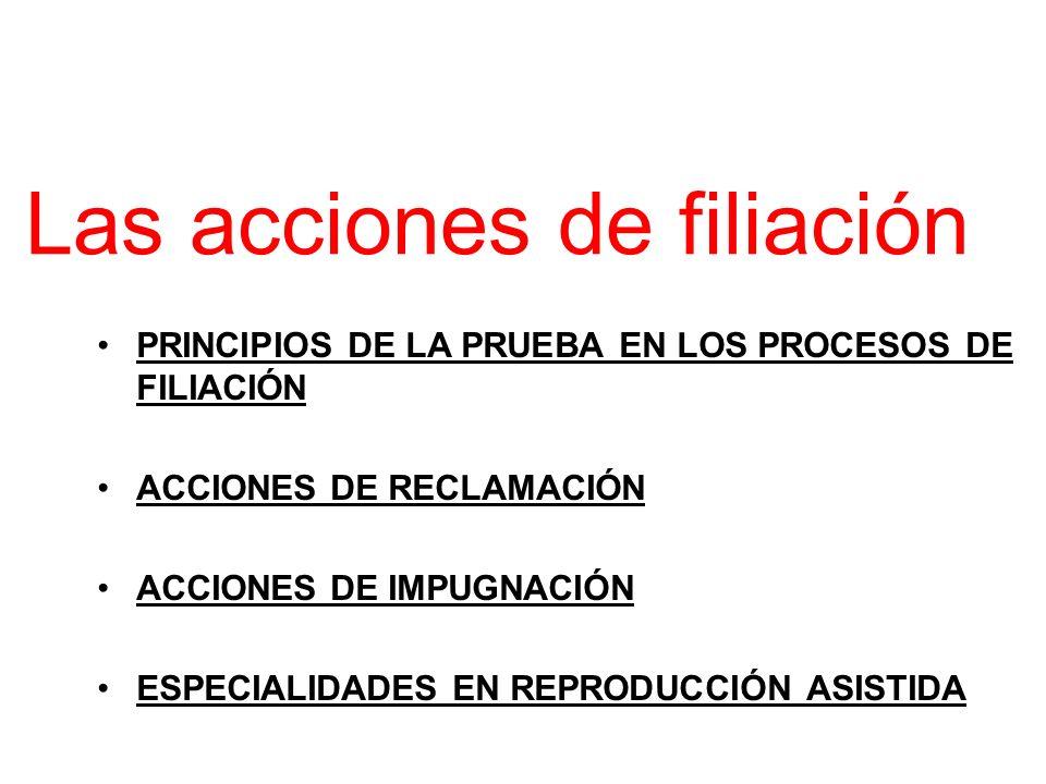 Las acciones de filiación