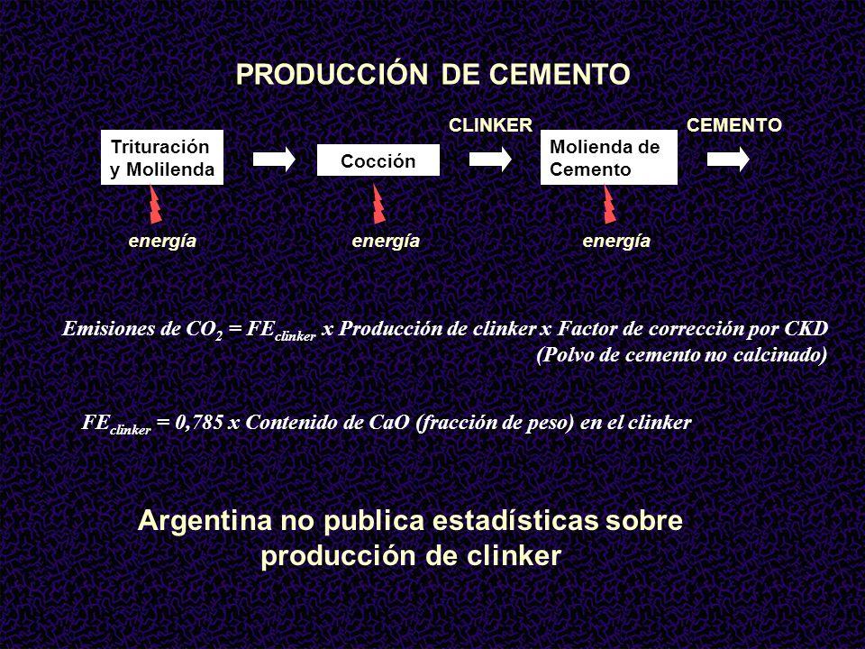 Argentina no publica estadísticas sobre producción de clinker