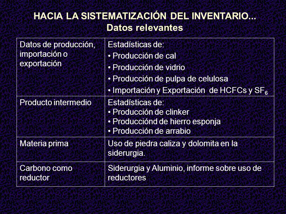HACIA LA SISTEMATIZACIÓN DEL INVENTARIO...