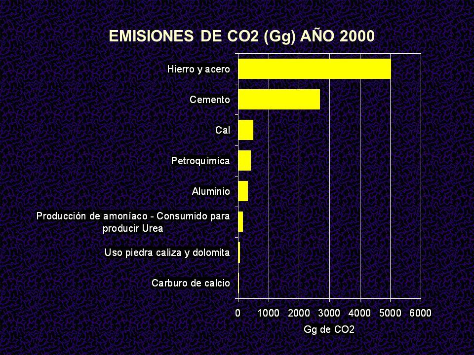 EMISIONES DE CO2 (Gg) AÑO 2000