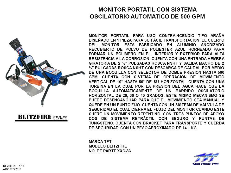 MONITOR PORTATIL CON SISTEMA OSCILATORIO AUTOMATICO DE 500 GPM