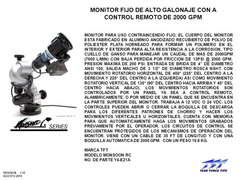 MONITOR FIJO DE ALTO GALONAJE CON A CONTROL REMOTO DE 2000 GPM