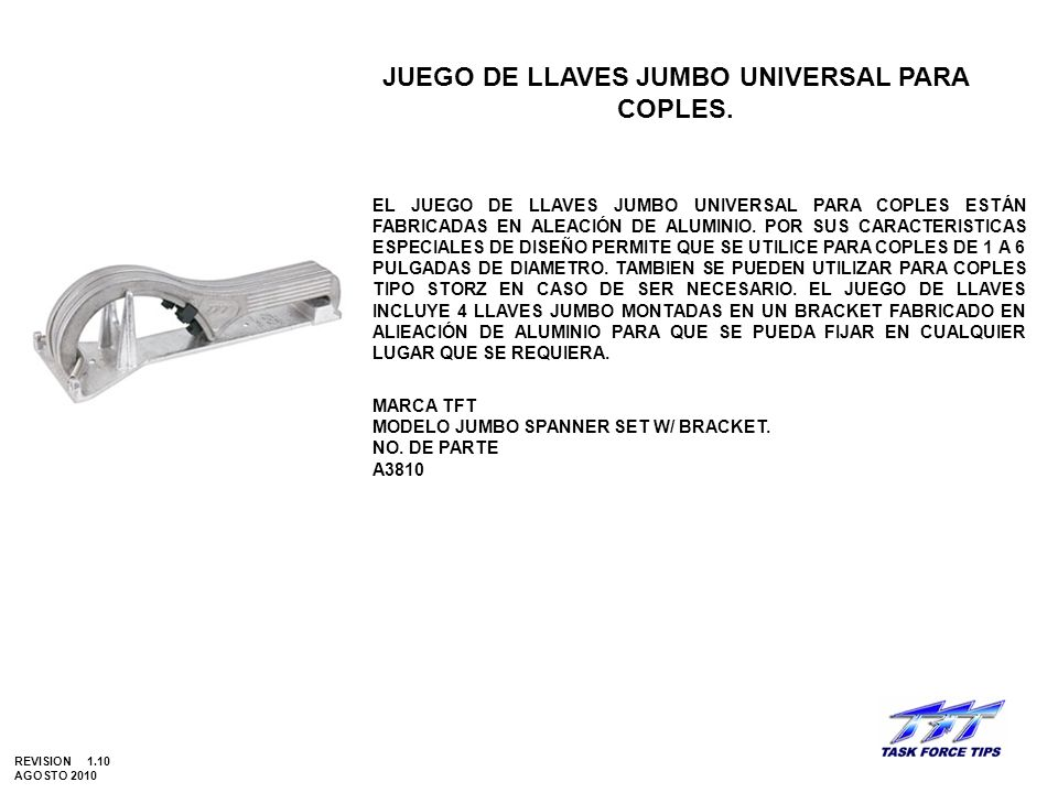 JUEGO DE LLAVES JUMBO UNIVERSAL PARA COPLES.