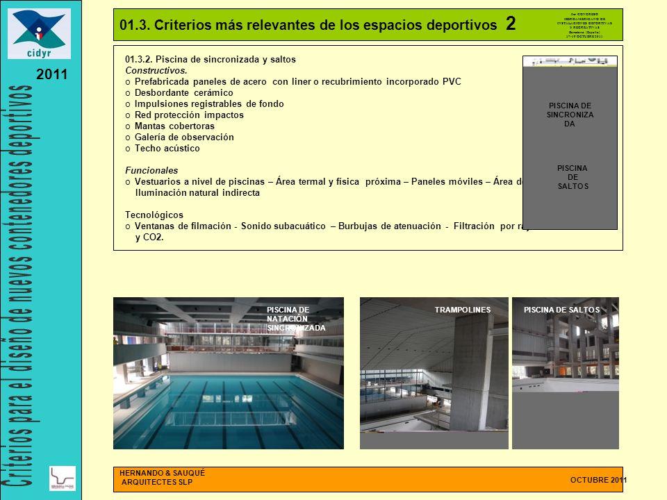 INSTALACIONES DEPORTIVAS PISCINA DE SINCRONIZADA