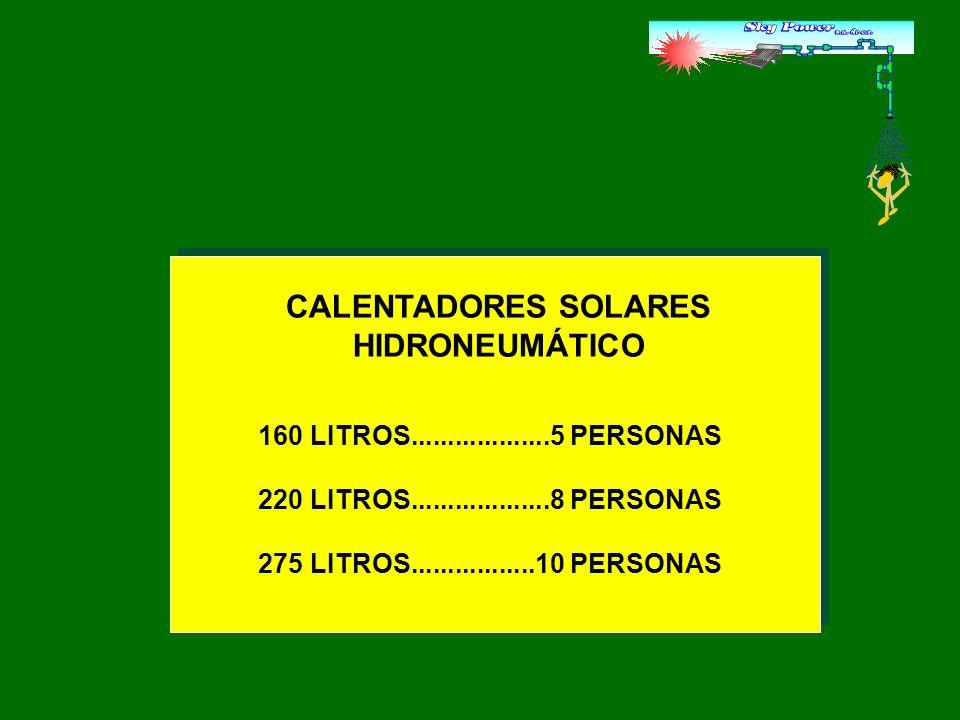 CALENTADORES SOLARES HIDRONEUMÁTICO