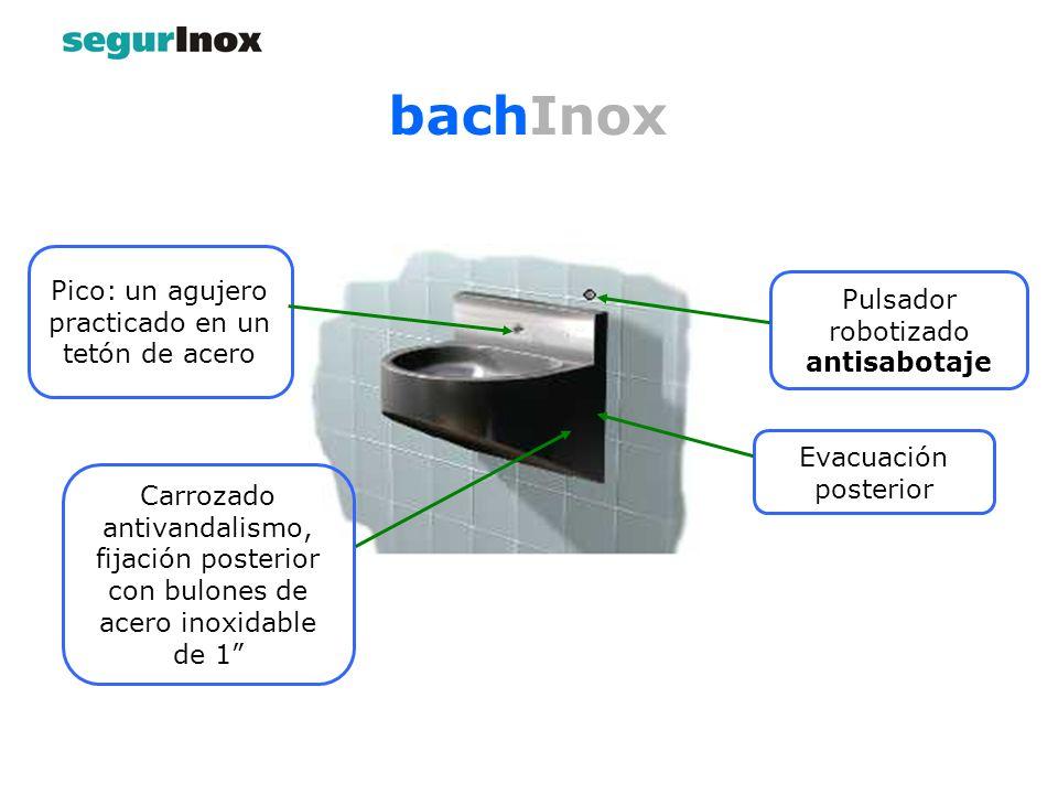 bachInox Pico: un agujero practicado en un tetón de acero
